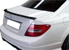 Forged Carbon Fiber Rear Trunk Lip Lid Boot Spoiler Wing For Mercedes Benz W204