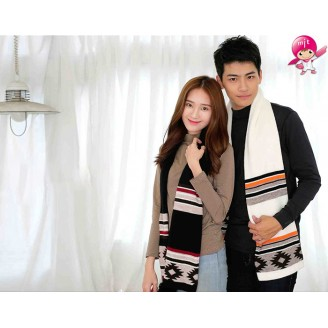 LAVARE Scarfs Women Men Warm Winter Shawl Wrap hat Scarves With Fur Pompom Ball Ethnic Tribal geometric Chinese style