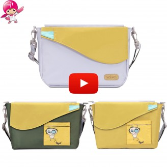 seisei Crossbody Shoulder Bag with 2 in 1 Convertible Color Tote Handbag for Women Adjustable Strap Waterproof Travel 2pcs Set