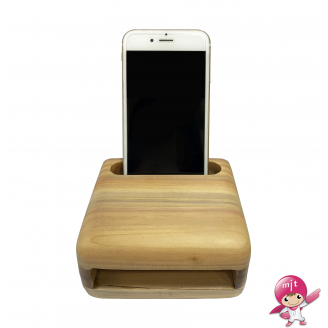 Forest School Phone Stand Amplifier Sound Speaker Wooden Amplifier Phone Holder
