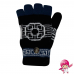 LAVARE Winter Half Thumb Open Fingers Convertible Mittens Gloves Knit Elastic
