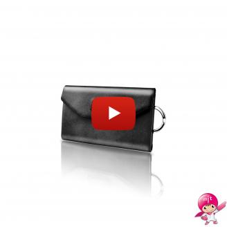 LIEVO Key Holder Wallet Chain Hook Door Card Leather Case Magnetic Clip Pocket Unisex