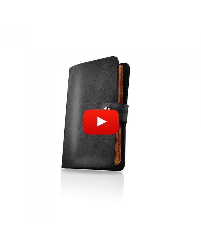 LIEVO EASY-Genuine Italian Leather 19 Cards Smart Card Holder Wallet Credit ID Pocket