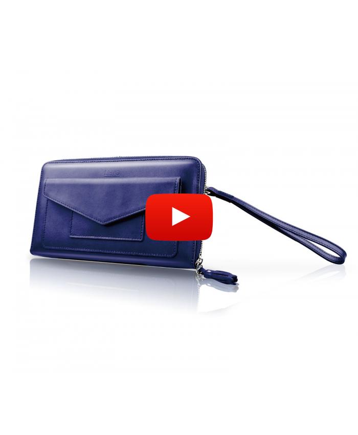 LIEVO Travel Wallet Passport Holder Case Phone Credit Card ID Cash Purse Leather Cover