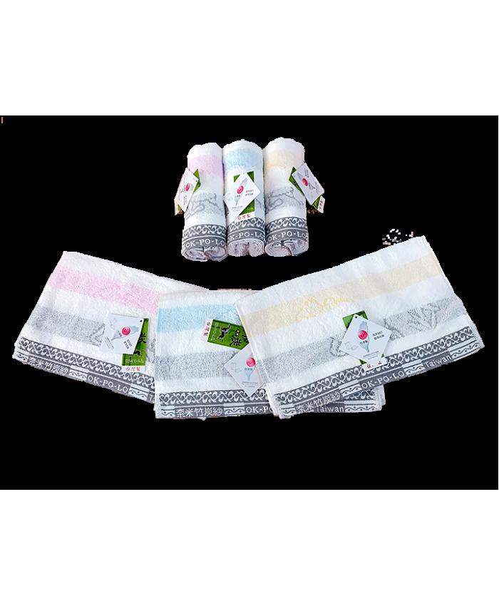 OKPOLO Bamboo Towel Organic Cotton Face Towel Nanometer Towel 3PCS