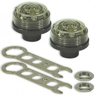 15~170psi Pair TPMS LED Auto Smart Sensor Tire Pressure Monitor Valve Stem Cap