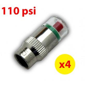 4PCS 110psi TPMS Tire Pressure Monitor Valve Stem Cap Tyre Sensor Indicator