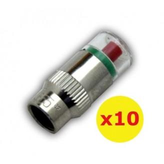 10x 90-120psi TPMS Tire Pressure Monitor Valve Stem Cap Tyre Sensor Indicator