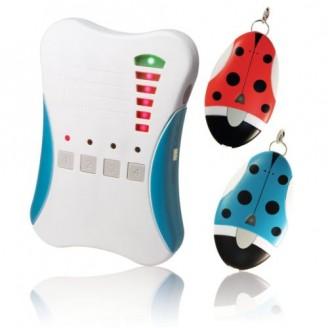 Kids Tracker RF Locator Tracking Alarm Children Keys Pets Finder 500m 2x Tags