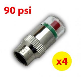 4PCS 90psi TPMS Tire Pressure Monitor Valve Stem Cap Tyre Sensor Indicator