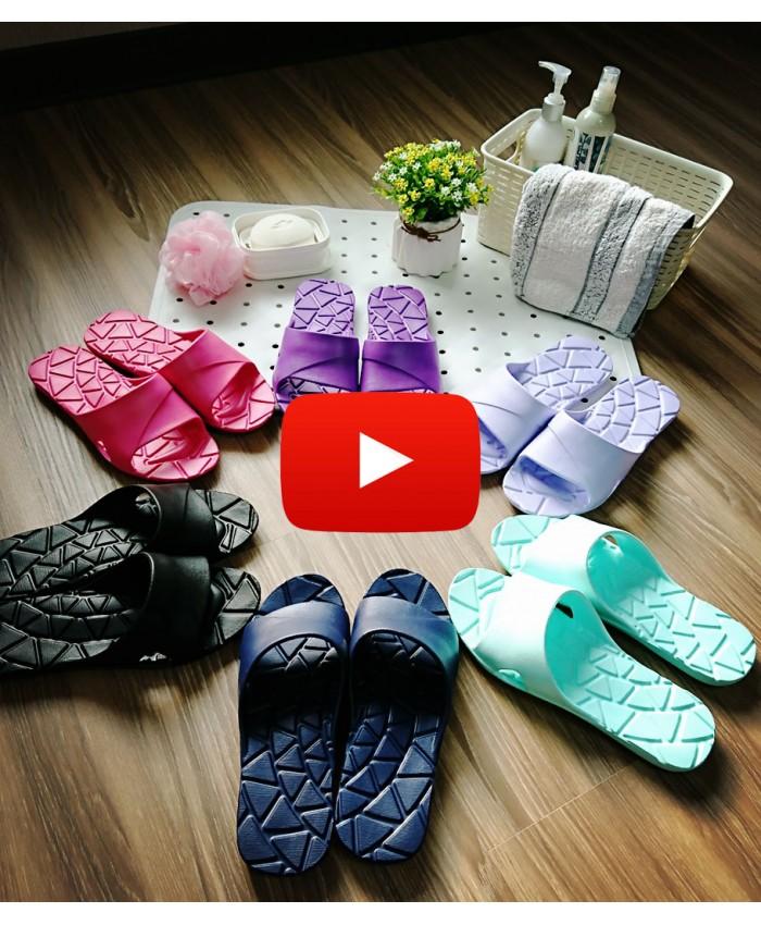 WOW Shower Sandal EVA Drain Slippers Women Men Non-Slip Soft Open Toe